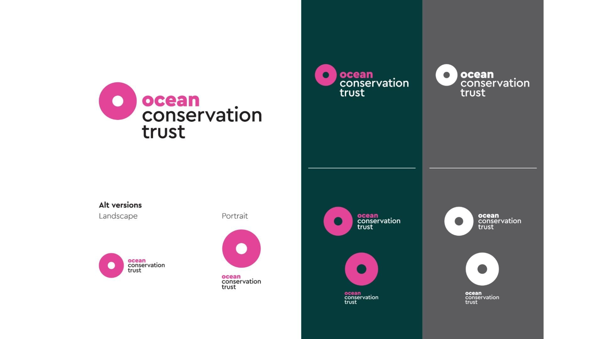 Ocean Conservation Trust Logo in Different Colours