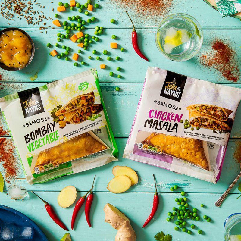 jake and nayns samosas product packaging photoshoot