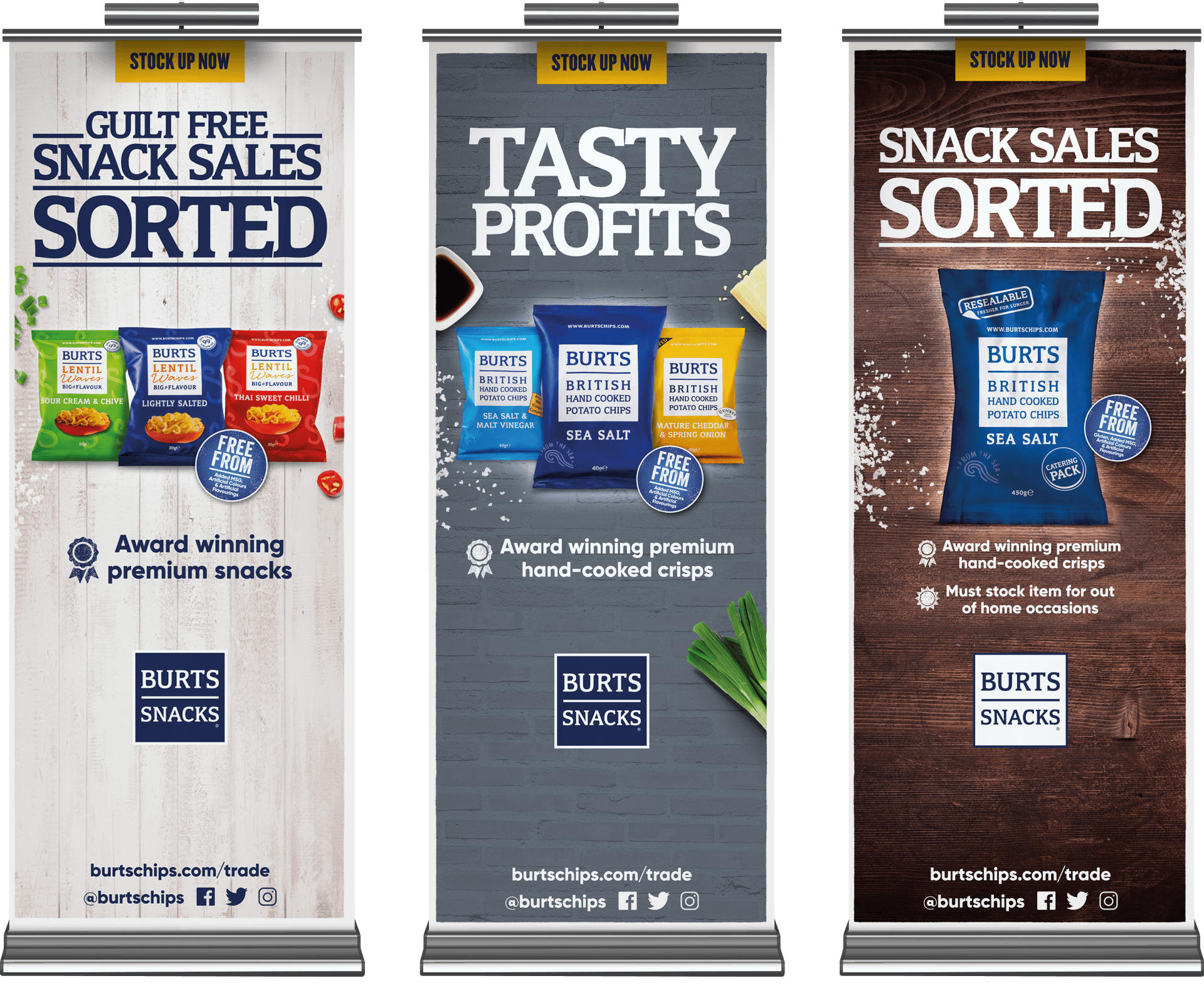 burts snacks pull up banners