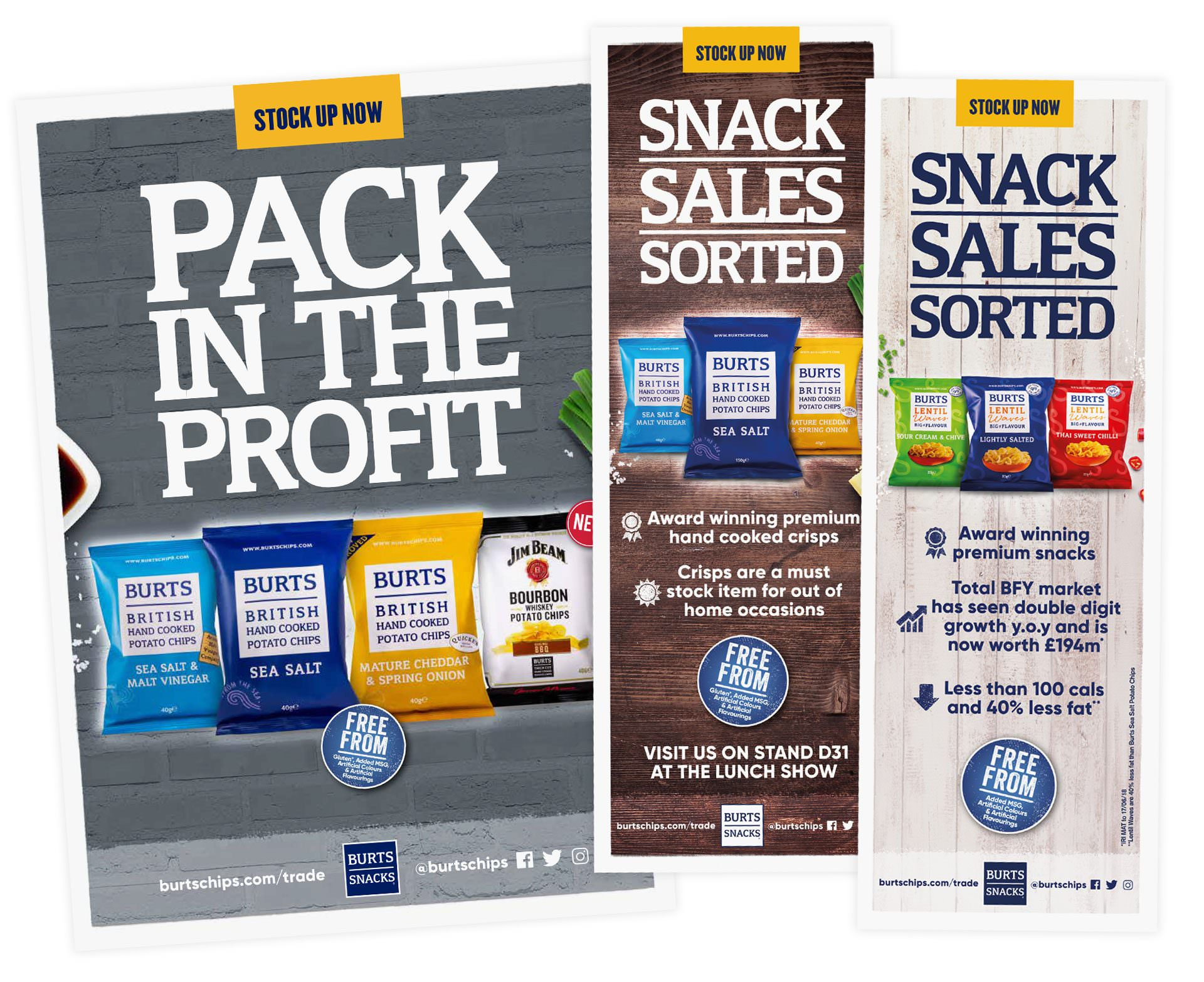 burts snacks trade adverts