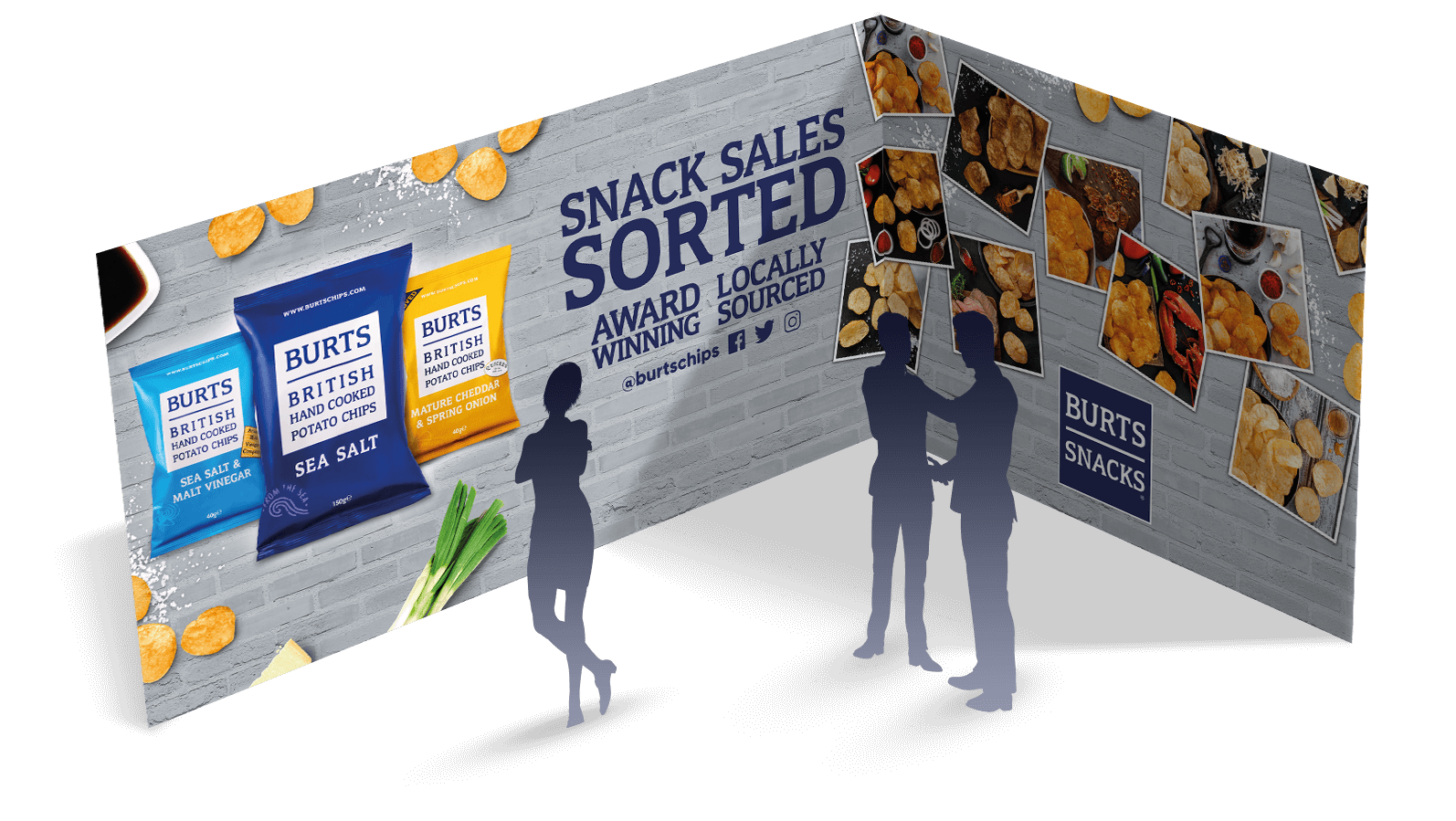 burts snacks trade show stand
