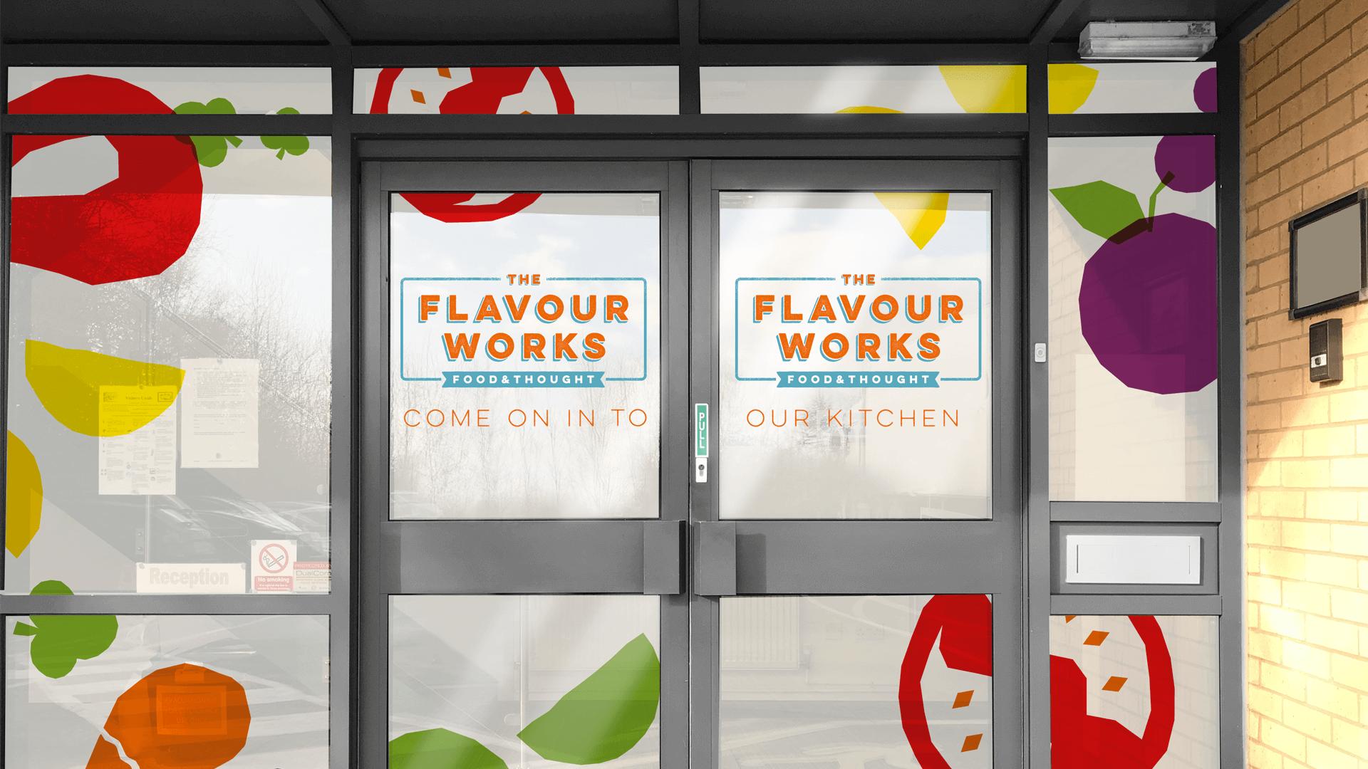 Flavourworks doors mockup
