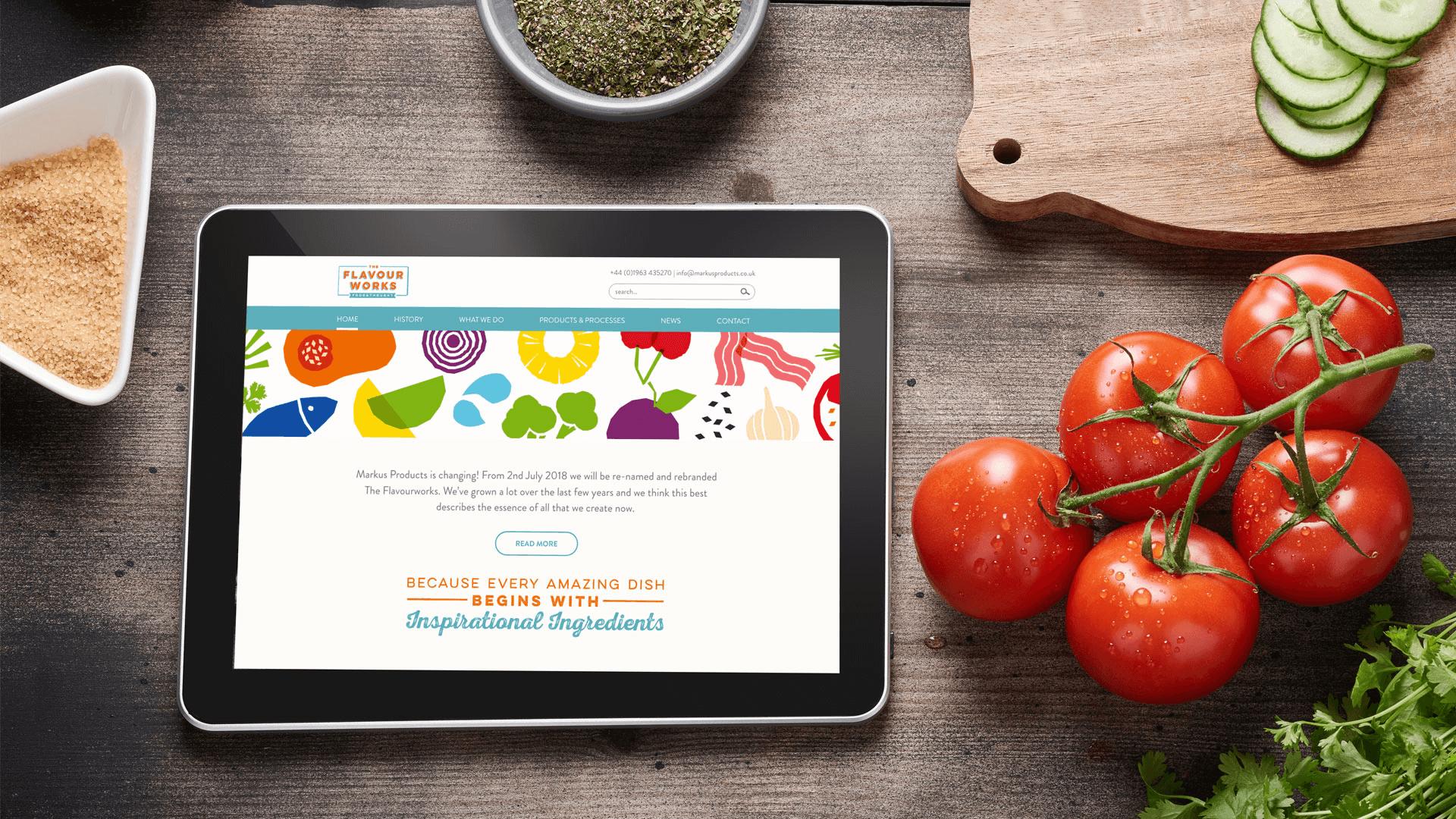 Flavourworks web page mockup