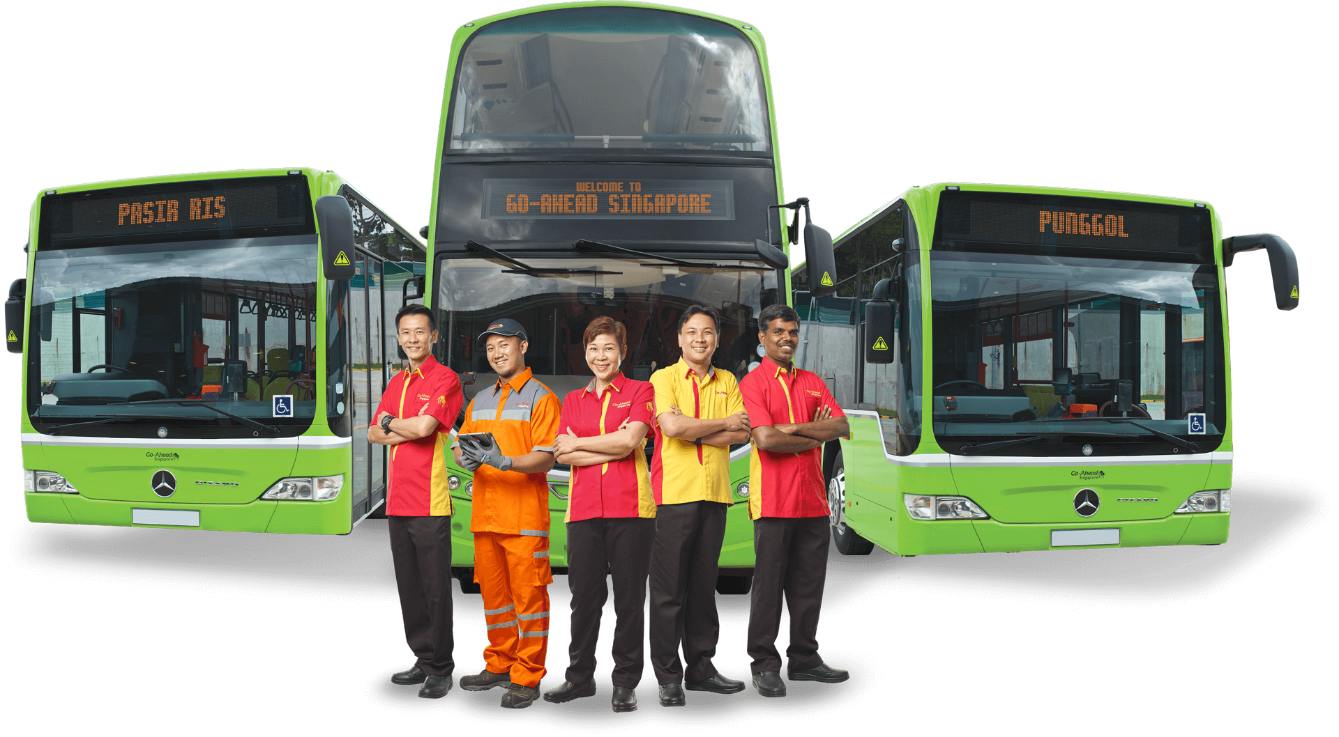 Go ahead Singapore buses