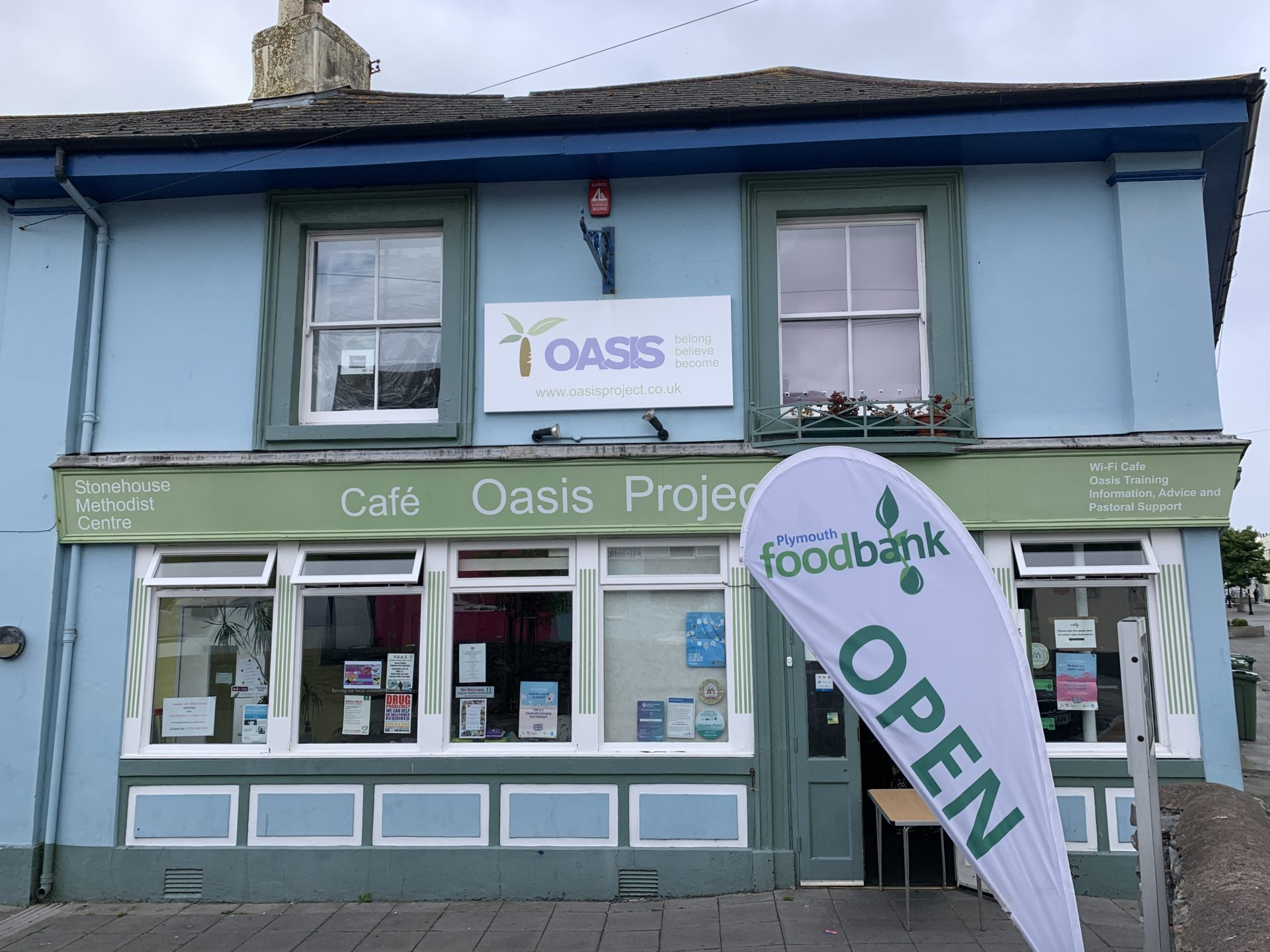 oasis project plymouth foodbank