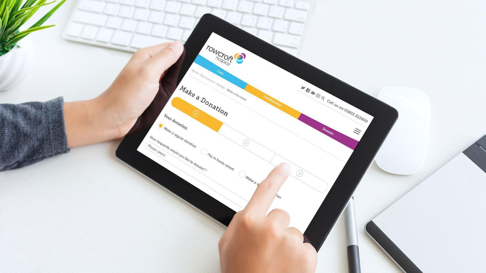 rowcroft website tablet